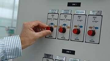 Tableau électrique armoire climat pour serre maraichère Richel