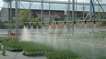 irrigation boom for greenhouses