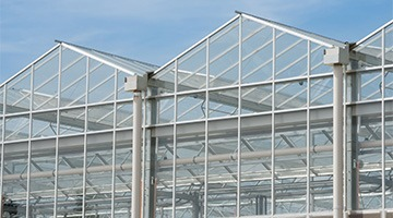 pvc network for greenhouse rainwater recovery